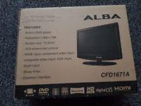 BOXED ALBA 16 INCH HD READY LCD TV/DVD COMBI