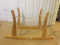 Moses Basket Stand Rocking Wooden