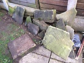 Stone for path/rockery