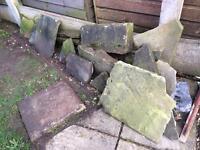 Stone for path/rockery