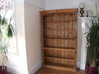 Antique Solid Pine Bespoke Bookcase