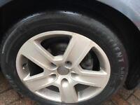 "Audi 16"" alloys x5 with tyres 5x112 + Centre caps"