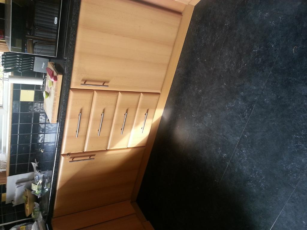 KITCHEN UNITS FOR SALE INTEGRATED FRIDGE AND FREEZER In Rosyth Fife Gu