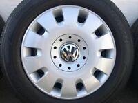 "VW T5 Black 16"" Steel Rims & Excellent tyres' Michelin & Hankook"
