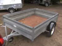 FULLY GALVANISED (WESSEX) 6X4 GOODS TRAILER 750KG UNBRAKED .............