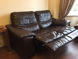 3 and 2 seater brown sofa