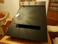 Caple Astro Stainless Steel and Black glass Cooker Hood AS610 BK l