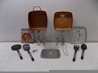 Copper 5 piece cookware set new unused