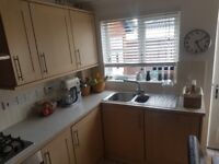 Kitchen units with fitted appliances in excellent condition