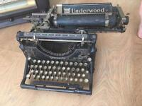 Vintage Typewriter Old fashioned TV Retro music player - Can be sold as set or separately