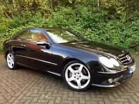 "Mercedes-Benz CLK 2.1 CLK 220 CDI Sport 2dr Black, Cream Leather, Amg Sport Kit, 18"" Alloys, Auto"
