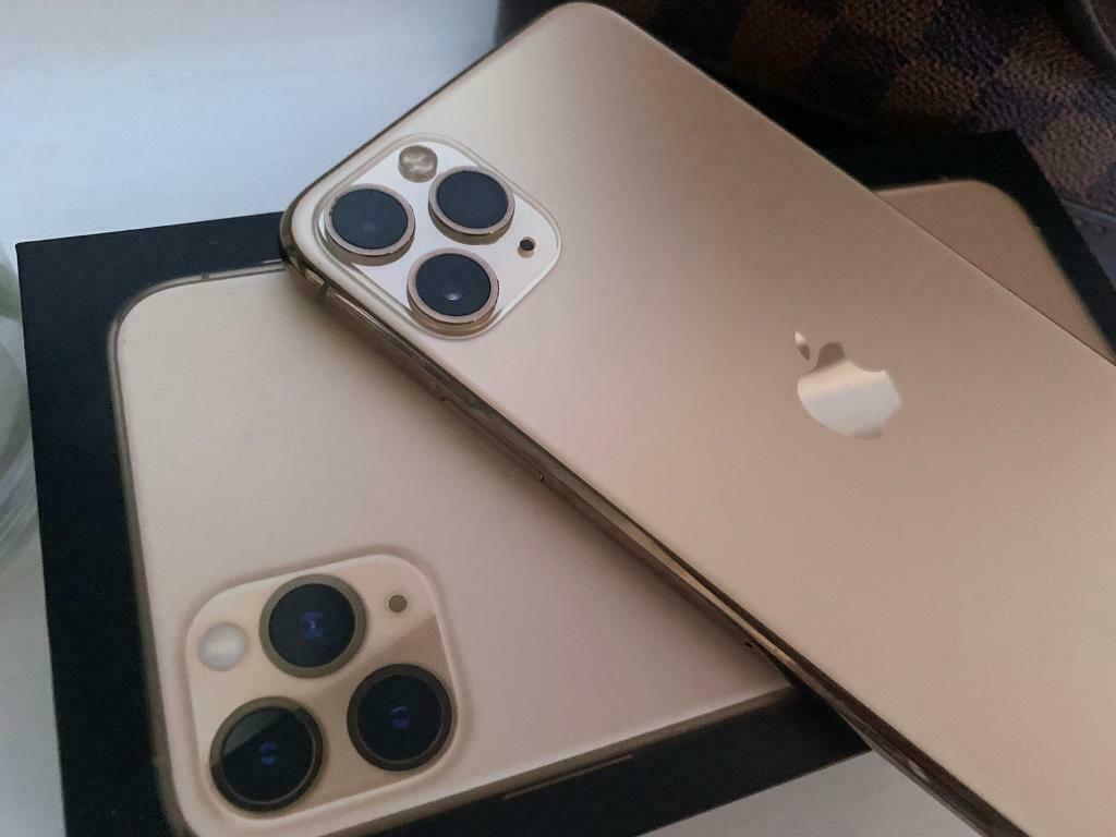 Iphone 11 Pro Max 64gb Gold Cracked Screen Unlocked In Loughborough Leicestershire Gumtree