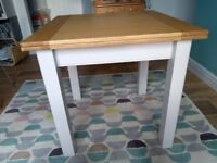 M and S Padstow extending square dining table. Excellent condition less than a year old