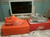 2 pairs of ladies nike trainers