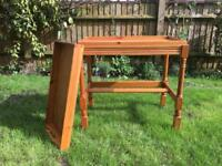Wooden trolley / table on casters