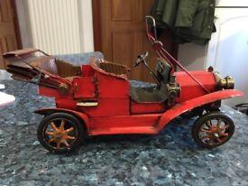 """Old vintage car all metal 14""""long"""