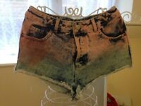 Topshop moto women's denim shorts size s/m