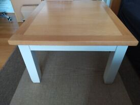 Stylish, Contemporary Coffee Table, Oak and white finish