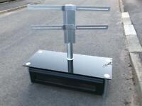 Black Glass TV unit with bracket