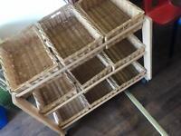 Wicker Basket Children Storage Unit