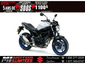 2017 Suzuki SV650 ABS 500$ d'essence Garantie 5 ans*