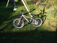 Childrens Bike Age 7 to 9 Silver & red & in good condition with just the pedals slightly scuffed.