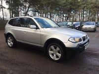 bmw x3 3.0 diesel SPORT , leather , towbar , part exchange , 260 BHP