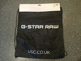 G Star raw draw string bag BRAND NEW WITH TAGS. Great for holidays/gym/festivals/school etc...