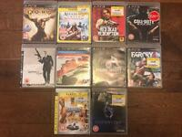 10 PlayStation 3 games.