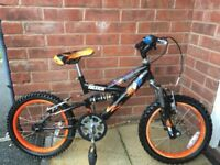"Ralwigh Bike MX16 FS 16"" wheels 5-8"