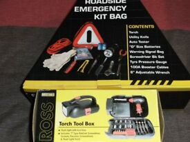 ROADSIDE EMERGENCY KIT & TORCH TOOL BOX (New & Boxed)