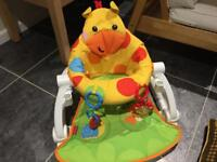 Fisher price sit me up seat, new!! Smoke and pet free house