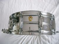 "Ludwig 410 Supersensitive alloy snare drum 14 x 5"" - Keystone Chicago - Circa '65"