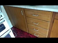 Wooden Storage cupboards and 2 chests of drawers for Garage or Shed FREE