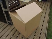 9 unused double-walled moving cardboard boxes 61 x 61 x 61cm