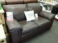 Excellent 2 seater brown leather sofa