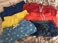 6 pairs of boys swim shorts