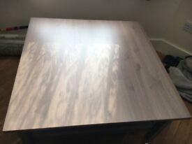 Ikea Hemnes wooden coffee table Grey Brown 90cm x 90cm - Used