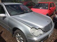 Mercedes Benz c220cdi diesel car spare parts available bumper bonnet light radiator Ecu set