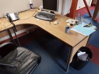 Corner desk and straight