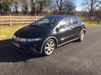 HONDA CIVIC 2008 DIESEL. SAT NAV. LONG MOT DRIVES LOVELY