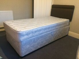 Single bed with mattress and 2 drawer storage. Excellent condition