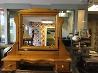 Eye Catching Pine Mirror Stand. Great Condition.
