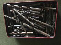 tools, lazer level drill bits, 2 sanders, router bits j, lot