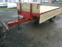 Tractor tipping trailer new wooden floor and sides has aluminium crossers