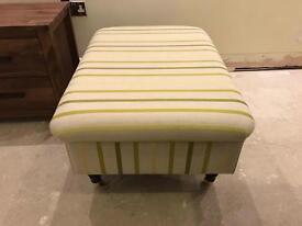 Laura Ashley green striped foot stool