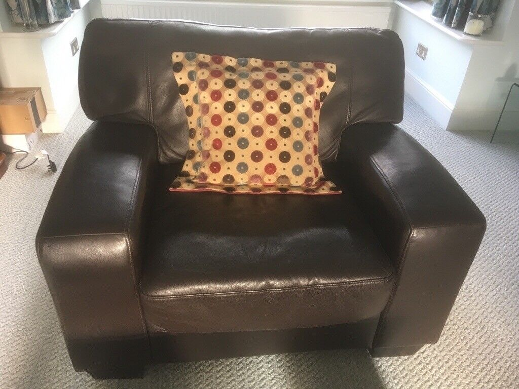 Groovy Armchair Chocolate Brown Leather Originally From Heals In Caterham Surrey Gumtree Andrewgaddart Wooden Chair Designs For Living Room Andrewgaddartcom