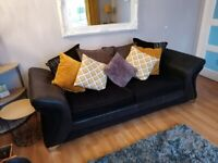 DFS Sofa and Swivel cuddle chair