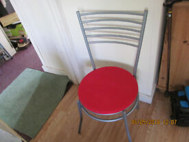 metal chairs x4