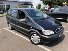 2004 VAUXHALL ZAFIRA 1.6L PETROL 7 SEATER GREAT CONDITION LONG MOT FULL SERVICE HISTORY